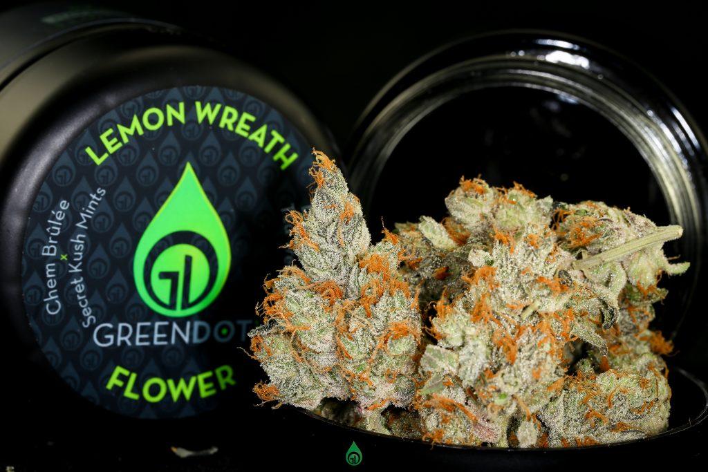 Photo of Lemon Wreath flower with jar.